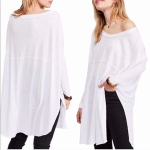 NWT Free People Telltale Cotton Blend Tunic Top XS